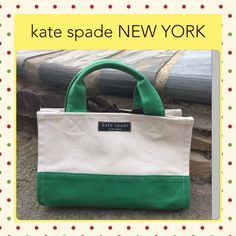 Coming soon! Kate Spade bag Hard to find! Vintage! Perfect for kate spade collectors. Canvas bag with brown grosgrain ribbon tie closure. kate spade Bags