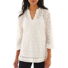 nicole by Nicole Miller® Lace Tunic Top  found at @JCPenney