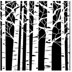 Aspen Tree Stencils on Stencil Revolution