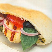 Cyprus Food and Drinks - Grilled Halloumi Sandwich in Pita Bread