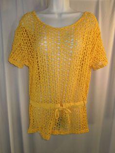 #VintageFashion #NY5 #Fishnet  #Lemon #Yellow #CoverUp #Beach #Swimwear