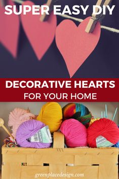 Show a little love to your home by creating a unique decor that will charm your friends and family. Decorative hearts give a sweet touch to any space. Valentine Crafts, Valentines, Easy Diy Projects, Super Easy, Hearts, Room Decor, Decor Ideas, Touch, Posts