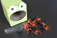 Feed the Frog- use as finger fine motor activities for babies with small blocks, pegs or poppoms