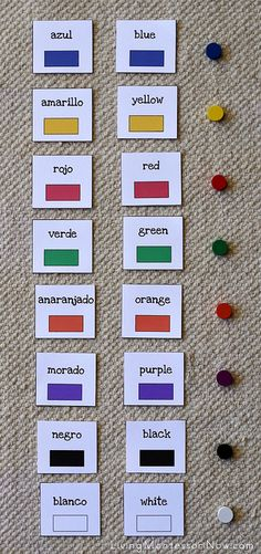 Spanish and English Color Layout by Deb Chitwood, using #spielgaben