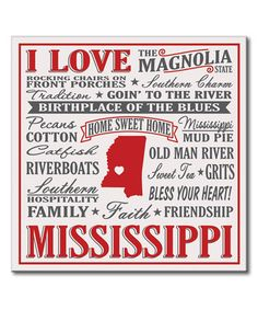 Another great find on #zulily! 'I Love Mississippi' Wall Sign by My Word! #zulilyfinds