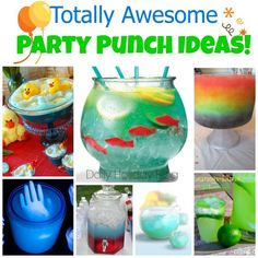 10 totally awesome party punch ideas!  Be the talk of the party!