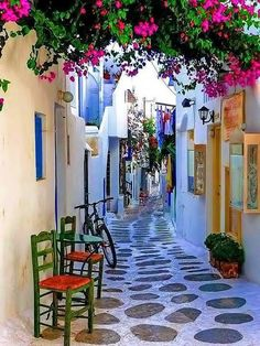 Alley in Paros island, Greece