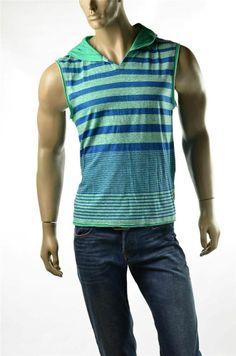 Buffalo Jeans David Bitton Blake Combo V Neck  Hood T Shirt Tank Sz L Large New