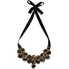 Boohoo Claudette Ribbon Tie Statement Necklace ($10) ❤ liked on Polyvore featuring jewelry, necklaces, accessories, statement bib necklace, ribbon jewelry, statement necklaces, ribbon tie necklace and ribbon necklace