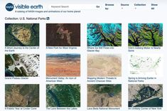 An entire collect of NASA Earth images from satellite including a National Parks option! Nasa Earth Images, Nasa Images, Us National Parks, Planets, National Parks Usa