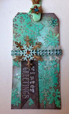 Winter Greetings Tag:  Mary Elizabeth 11.10.13