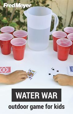 We love the idea of getting the kids outside for an end of summer celebration with this game idea for an outdoor water war from Inspired Gathering. Your kids are sure to love cooling off with this fun activity! Outdoor Water Activities, Outside Activities For Kids, Outdoor Games For Kids, Water Games For Kids, Activities For Teens, Games For Teens, Indoor Games, Water Games Outside, Camping Games For Kids