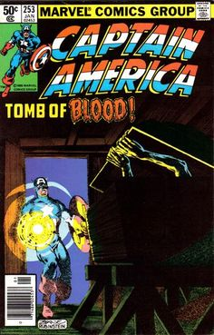 Cover for Captain America (Marvel, 1968 series) #253 [Direct Edition]