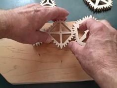 """Wooden gears... but the """"that looks physically impossible...wait, it actually works!"""" kind."""