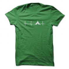 Awesome Camping Lovers Tee Shirts Gift for you or your family member and your friend:  Camping Pulse Line Tee Shirts T-Shirts