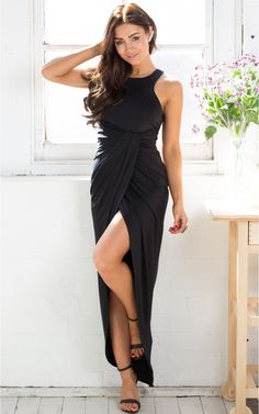 Bend And Snap Dress in Black