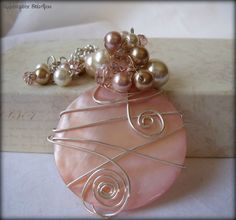 Sunrise Sunset Necklace ooak Wire Wrapped by RainwaterStudios, $55.00