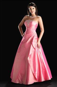 Applique Taffeta A-line Pinks Quinceanera Dress
