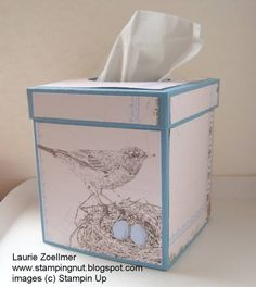 Botanical Gazette Tissue Box Cover
