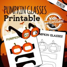 Get ready for Fall Harvest or Halloween with this printable pumpkin glasses craft for kids! They make a great Halloween costume for kids!