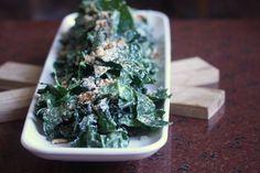 Vegetarian kale caesar salad. Looks great!