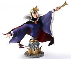 Snow White and the Seven Dwarfs - The Evil Queen - Bust - Walt Disney Mini Busts - World-Wide-Art.com - $85.00 #Disney #Queen #SnowWhite