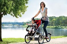The Taga converts from a stroller to a pushbike with child seat in seconds. THIS IS AMAZING! I want it right nowww!