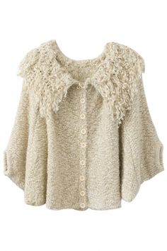 Cute Beige Knit CardiganOASAP Giveaway, 10 pieces per day, till the end of 2014! Easiest way to get free clothing!