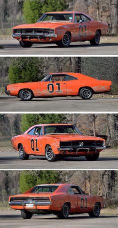 For Sale: An Original Dukes of Hazzard Movie Stunt Car Dodge Muscle Cars, Custom Muscle Cars, Custom Cars, General Lee Car, Tv Vintage, Dukes Of Hazard, 1969 Dodge Charger, The Originals Tv, Car Salesman
