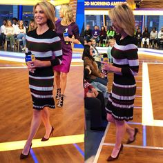 @shopshoshanna on @ajrobach this morning ❤️ #yooying Long, Long Sleeve, Sleeves, Dresses, Amy Robach, Fashion, Dresses With Sleeves