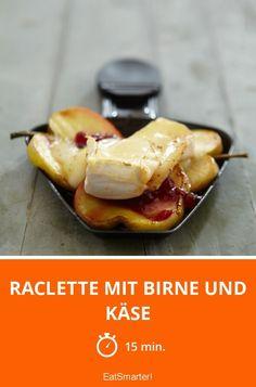 Raclette mit Birne und Käse