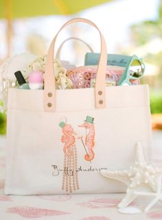 Bridal Shower guest swag bags #swagbags#bridalshower#favors