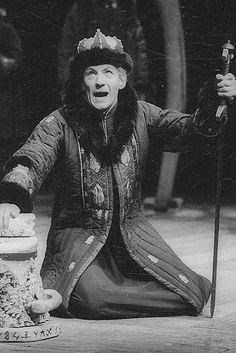 Ian McKellen as Leontes in 1976 Winter's Tale directed by John Barton and Trevor Nunn.