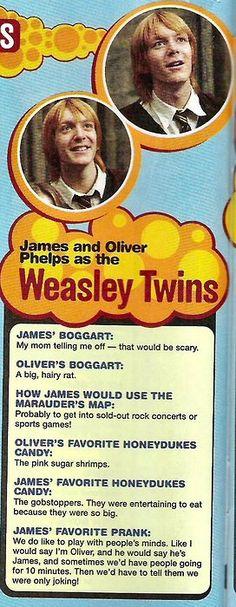 Weasley Twins!                                                                                                                                                                                 More