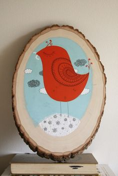 LOVE this. hand drawn on wood. Acrylic and ink by MirDinara.