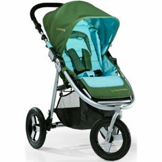 "Our first big baby purchase!!!  Bumbleride Indie 3 Wheel Design Stroller with 12"" Air Tires in Seagrass."