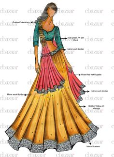 Buy DIY Golden Yellow Art Silk Lehenga Choli online from the wide collection of a-line-lehenga.  This Yellow colored a-line-lehenga in Art Silk fabric goes well with any occasion. Shop online Designer a-line-lehenga from cbazaar at the lowest price.