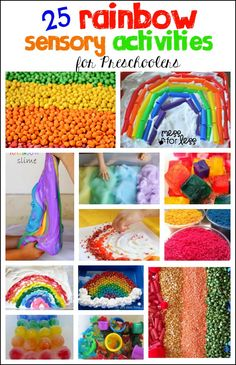25 Rainbow Sensory Activities for Preschoolers - So many fun, hands on way to explore the rainbow!