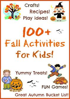 Fall activities, play ideas, and crafts for kids