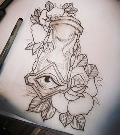 Love Tattoos, Girl Tattoos, Hourglass Tattoo, Dibujos Tattoo, People Poses, Oldschool, Drawing For Beginners, Creative Tattoos, Tattoo Drawings