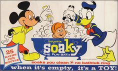 Soaky in-store ad with Disney characters (1960s)