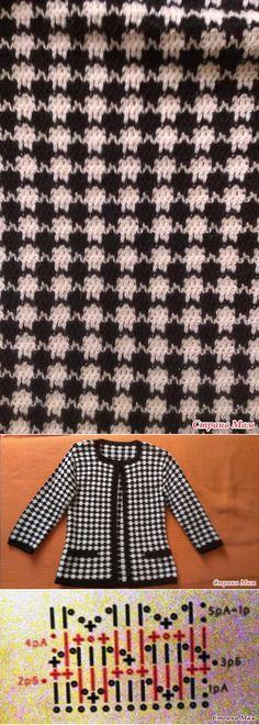 knittingideas.ru Crochet Saco, Crochet Chart, Crochet Stitches, Crochet Cardigan, Filet Crochet, Knit Fashion, Crochet Jacket Pattern, Crochet Patterns, Chanel Jacket