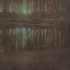 """oldoils:  """" The Pond — Moonlight  Edward Steichen - 1904  """""""