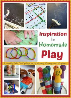 Toddlers and Kid Ideas for DIY Homemade Fun! I'm loving this blog. It's packed full of homemade crafts and learning for little ones! Lots of sensory stuff too