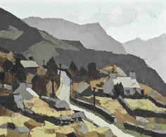 Kyffin Williams (Welsh, 1918-2006), Fachwen, near Llyn Padarn, c.1950. Oil on canvas, 20 x 24 in.