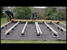 4 heures pour poser une terrasse bois sur plots - Ma Terrasse Facile - YouTube