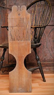 Connecticut Tape Loom  Late 18th-century tape loom that would have been placed between your knees to operate.