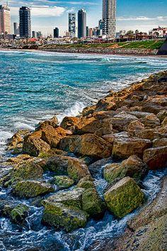 """""""Tel Aviv sea line"""" by Eran Shpigelman on Flickr - Tel Aviv Shoreline"""