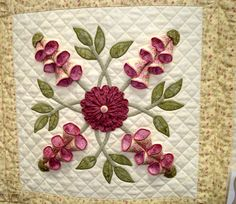 Amazing applique' in my favorite color - purple. #Quilt #Applique ... : quilting applique instructions - Adamdwight.com