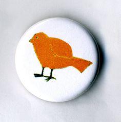 1 Mittelgrosser Kanari Button 32mm von jenapaul auf Etsy
